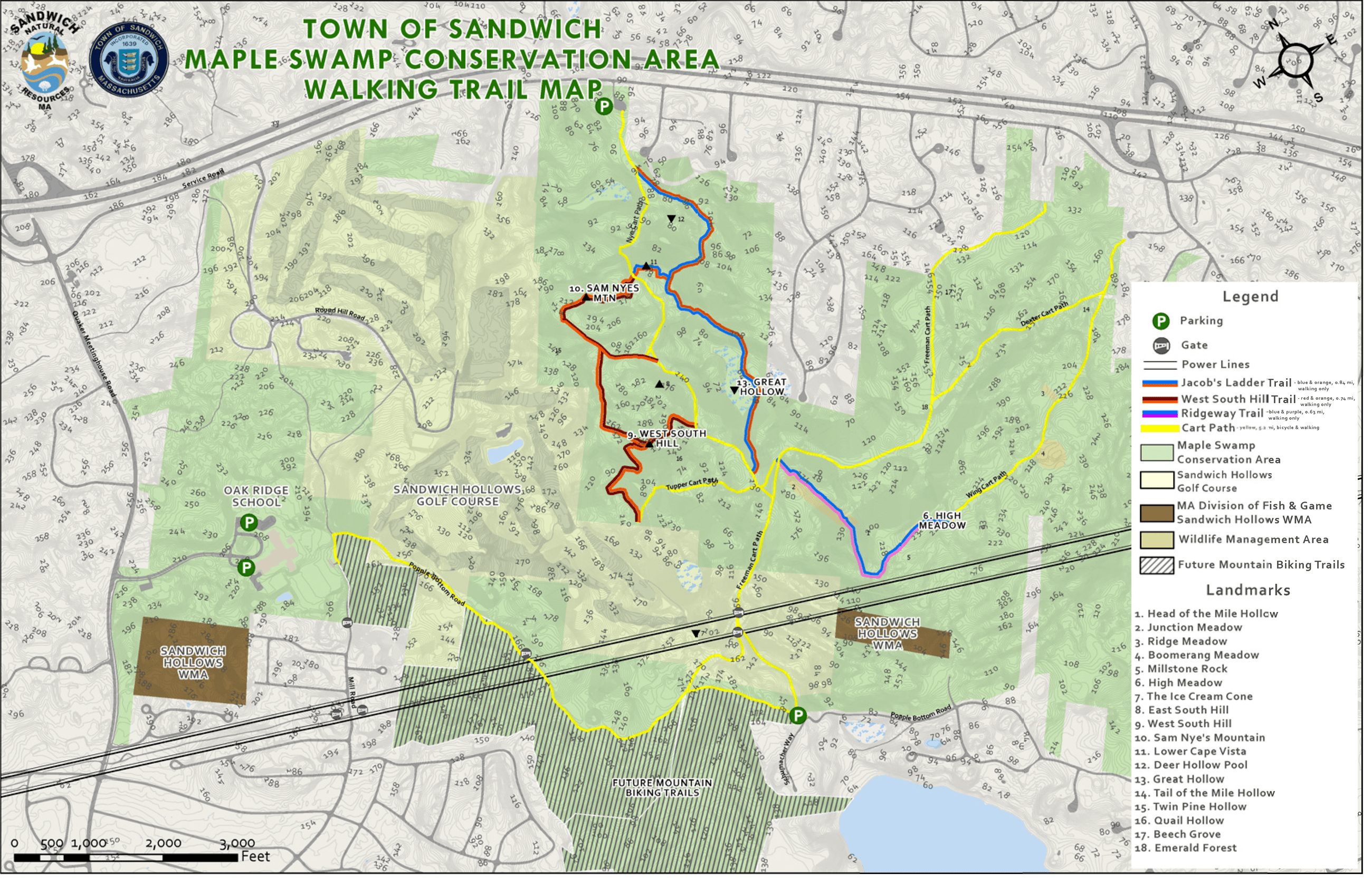 Maple Swamp Trail Map