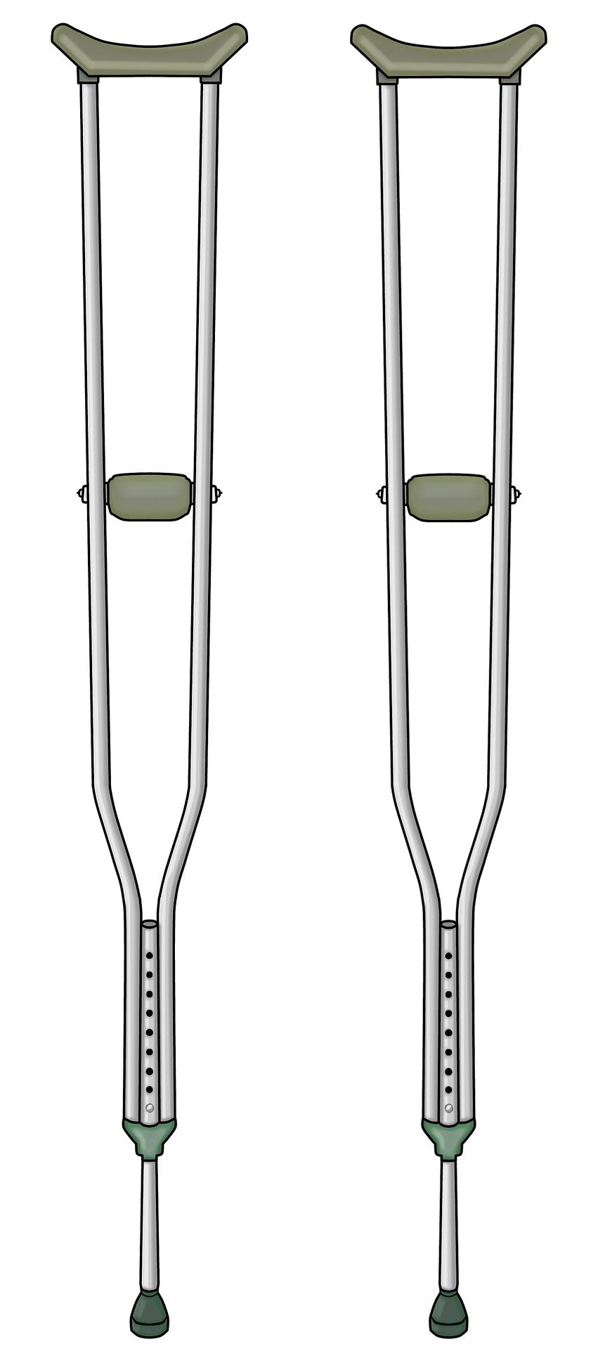 Pair of crutches
