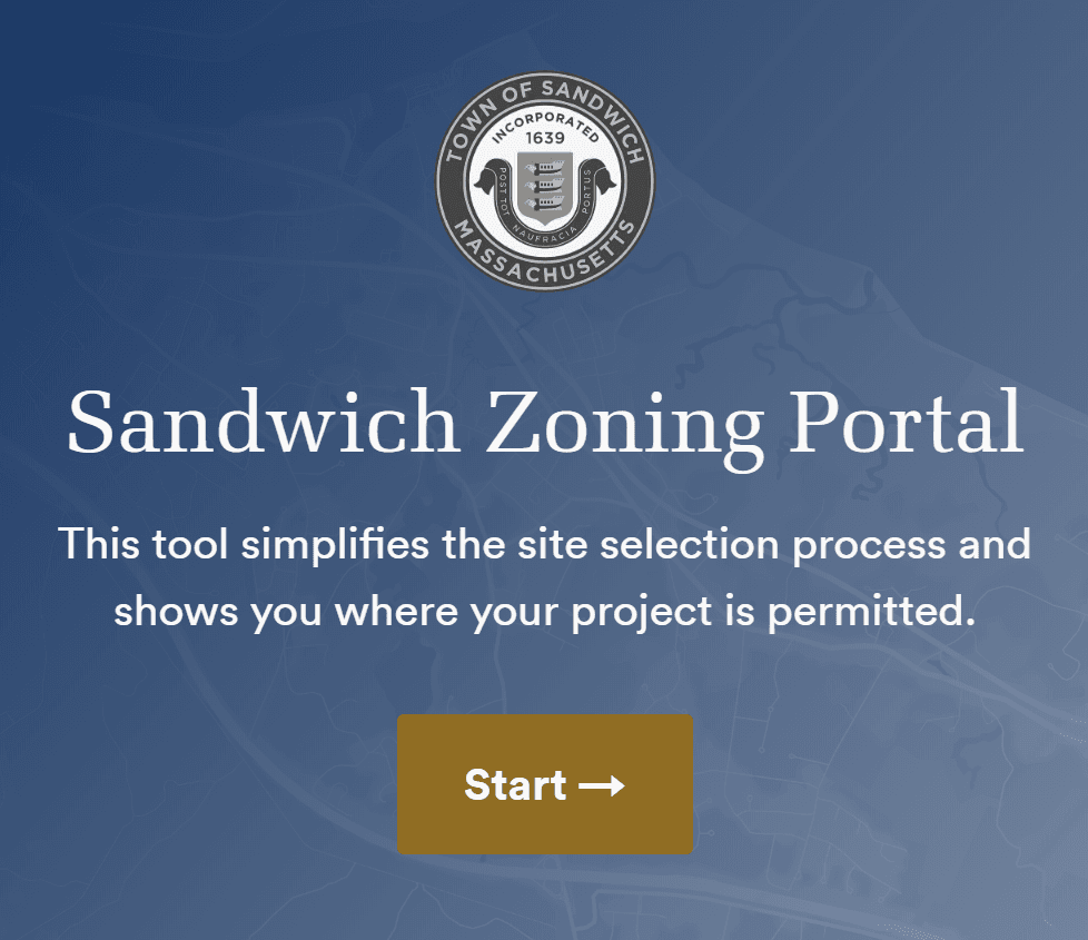 Zoning portal button