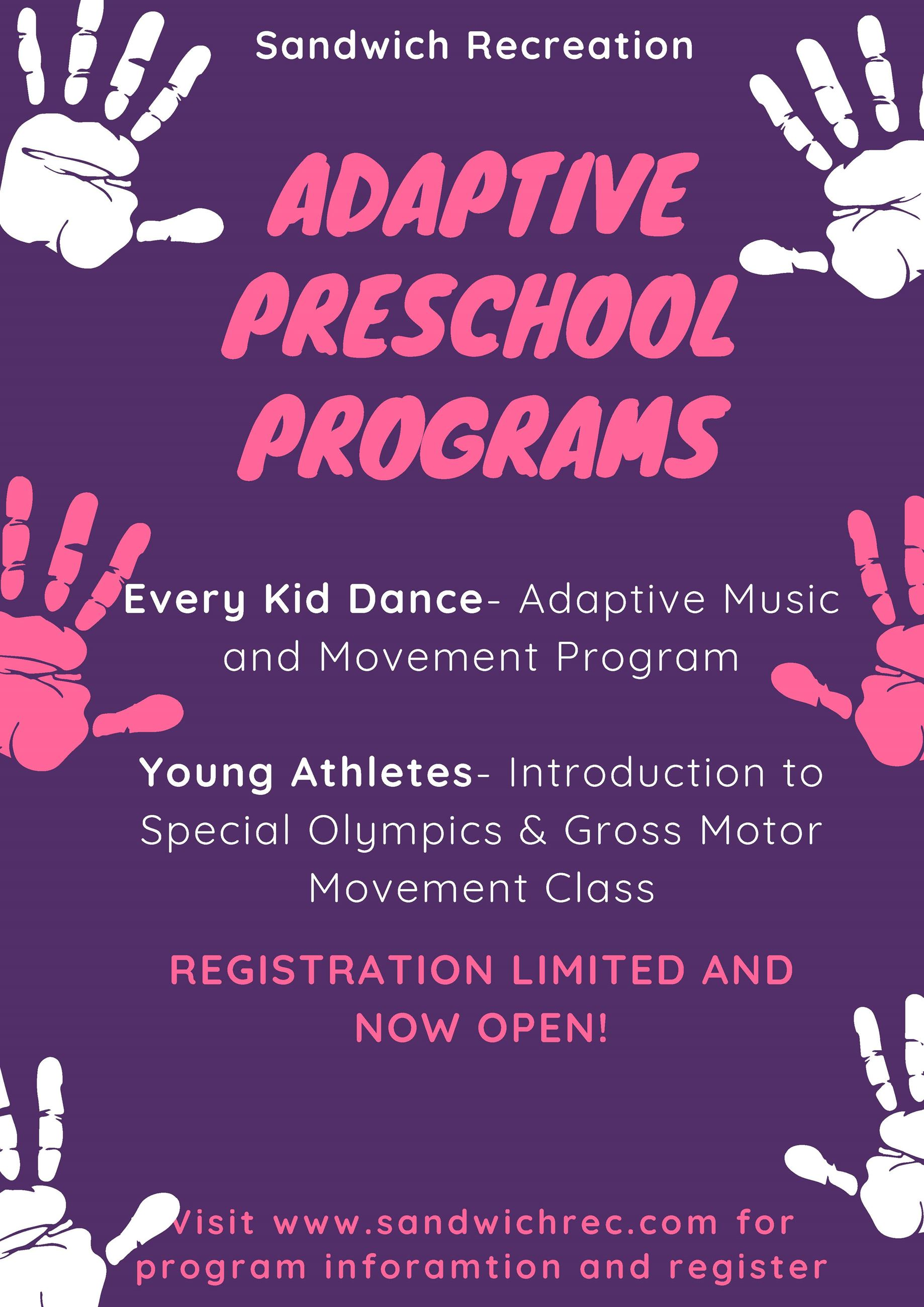 Fall Preschool Program Fall 2020 Poster