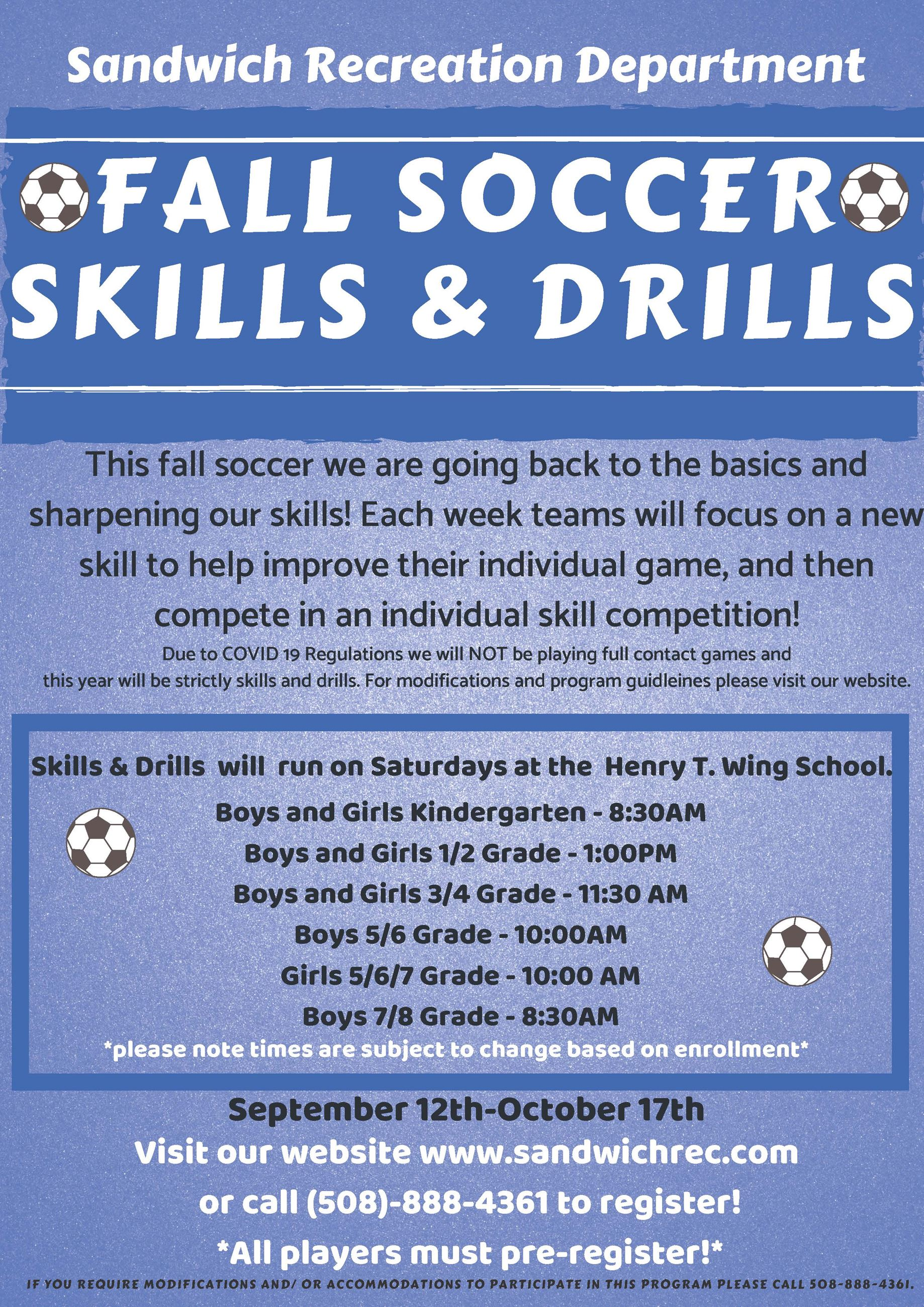 Fall Soccer 2020 Flyer