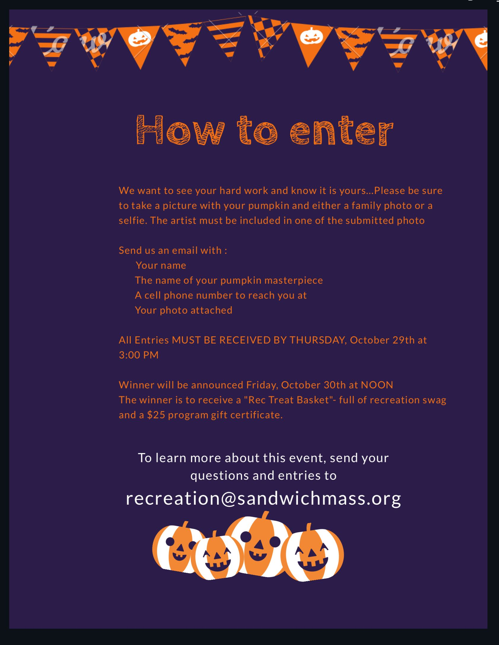 Pumpkin Contest How to Enter